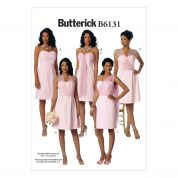 Butterick Ladies Easy Sewing Pattern 6131 Strapless Dresses & Sash