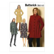 Butterick Ladies Easy Sewing Pattern 6141 Fitted, Lined Coats with Collar