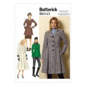 Butterick Ladies Sewing Pattern 6143 Lined Jackets & Coats