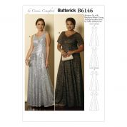 Butterick Ladies Easy Sewing Pattern 6146 Fitted & Flared Evening Dresses