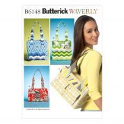 Butterick Accessories Sewing Pattern 6148 Tote Bags in 4 Styles