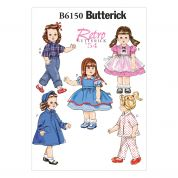 Butterick Easy Sewing Pattern 6150 Retro Doll Clothes Complete Wardrobe