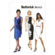 Butterick Ladies Easy Sewing Pattern 6163 Asymmetric & Lace Overlay Dresses