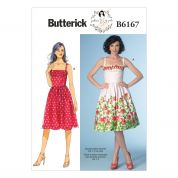 Butterick Ladies Sewing Pattern 6167 Fitted Bodice with Inset Dress