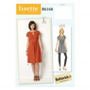 Butterick Ladies Easy Sewing Pattern 6168 Waist Tie Tunic Top & Dress
