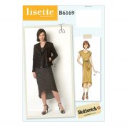 Butterick Ladies Sewing Pattern 6169 Asymmetric Jacket & Loose Fit Dresses