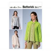 Butterick Ladies Sewing Pattern 6177 Very Loose Fitting Panelled Shirts