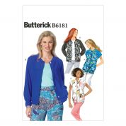 Butterick Ladies Easy Sewing Pattern 6181 Loose Fitting Unlined Jackets
