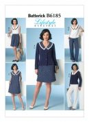 Butterick Ladies Easy Sewing Pattern 6185 Nautical Style Wardrobe