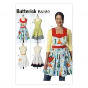 Butterick Ladies Easy Sewing Pattern 6189 Aprons in 4 Styles
