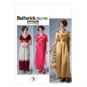 Butterick Ladies Sewing Pattern 6190 Empire-Waist Dress & Jacket Vintage Costume