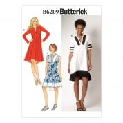 Butterick Ladies Easy Sewing Pattern 6209 Panelled Pullover Dresses