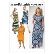 Butterick Ladies Easy Plus Size Sewing Pattern 6210 Drawstring Waist Dresses