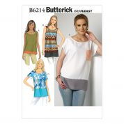 Butterick Ladies Easy Sewing Pattern 6214 Tops in 4 Styles