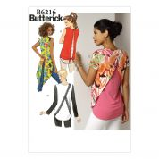 Butterick Ladies Easy Sewing Pattern 6216 Tunic Tops in 4 Styles