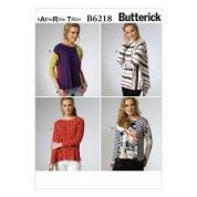 Butterick Ladies Easy Sewing Pattern 6218 Asymmetric Jersey Tops