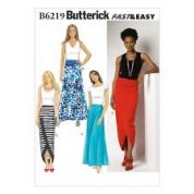 Butterick Ladies Easy Sewing Pattern 6219 Skirts in 4 Styles