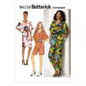Butterick Ladies Easy Sewing Pattern 6220 Dress & Jumpsuit
