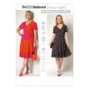 Butterick Ladies Plus Size Sewing Pattern 6222 Ruffle Hem Dresses