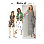 Butterick Ladies Easy Plus Size Sewing Pattern 6224 Kimonos & Jumpsuits