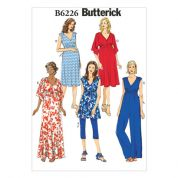 Butterick Ladies Easy Maternity Sewing Pattern 6226 Tunic, Dress, Jumpsuit, Belt & Leggings