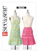 Butterick See & Sew Ladies Easy Sewing Pattern 6236 Kitchen Aprons