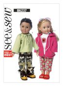 Butterick See & Sew Easy Sewing Pattern 6237 Doll Clothes