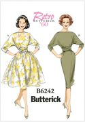 Butterick Ladies Sewing Pattern 6242 Vintage Style Dresses