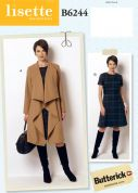 Butterick Ladies Sewing Pattern 6244 Coat & Dress
