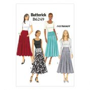 Butterick Ladies Easy Sewing Pattern 6249 Skirts in 4 Styles