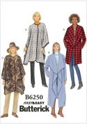 Butterick Ladies Easy Sewing Pattern 6250 Jacket, Coat & Wrap