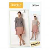 Butterick Ladies Sewing Pattern 6260 Smart Jacket & Skirt