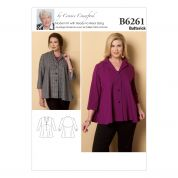 Butterick Ladies Plus Size Sewing Pattern 6261 Jacket