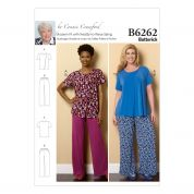 Butterick Ladies Plus Size Easy Sewing Pattern 6262 Casual Top & Pants