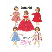 Butterick Doll Clothes Sewing Pattern 6265 Vintage Styles