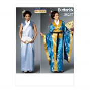Butterick Ladies Easy Sewing Pattern 6267 Kimono, Dress, Obi & Belt