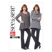 Butterick See & Sew Ladies Easy Sewing Pattern 6272 Loose Tunic Top & Pants