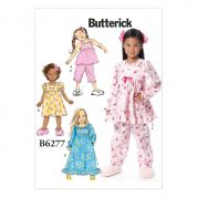 Butterick Girls Easy Sewing Pattern 6277 Top, Pants, Dress & Gown