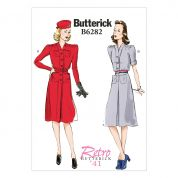 Butterick Ladies Sewing Pattern 6282 Vintage Style Dresses & Belt