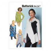 Butterick Ladies Easy Sewing Pattern 6287 Loose Fit Panelled Tunic Tops