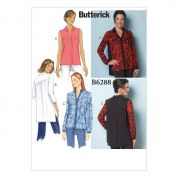 Butterick Ladies Easy Sewing Pattern 6288 Very Loose Fitting Shirt with Collar