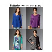 Butterick Ladies Sewing Pattern 6290 Very Loose Fitting Pullover Tops