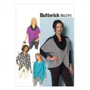 Butterick Ladies Easy Sewing Pattern 6291 Very Loose Fitting Wrap Tops