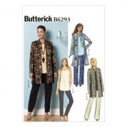 Butterick Ladies Easy Sewing Pattern 6293 Jackets, Tops & Trouser Pants
