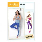 Butterick Ladies Sewing Pattern 6295 Top, Leggings & Bra Top