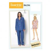 Butterick Ladies Easy Sewing Pattern 6296 Pyjama Tops, Shorts & Pants