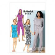 Butterick Ladies Easy Sewing Pattern 6298 Casual Romper & Jumpsuit