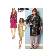 Butterick Ladies Easy Sewing Pattern 6299 Jackets & Dresses