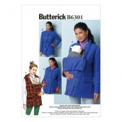 Butterick Ladies Sewing Pattern 6301 Maternity Waistcoat, Coat & Belt