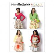 Butterick Ladies Easy Sewing Pattern 6304 Aprons in 4 Styles